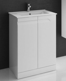 Brava 60cm White Floor Unit with Basin and Choice of Tap - *Special Offer