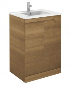 Brava 60cm Walnut Floor Unit with Basin and Choice of Tap - *Special Offer
