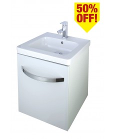 Resort 500 Vanity Unit White with LED Lights - 50% Off While Stocks Last