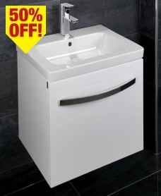Resort 650 Vanity Unit White with LED Lights - 50% Off While Stocks Last