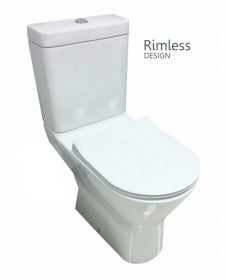 Resort Comfort Height  Close Coupled Rimless Toilet & SLIM Soft Close Seat