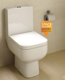 Series 600 Close Coupled Toilet & Soft Close Seat - Short Projection - 595mm