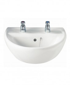Sola 500 Washbasin 2 Tap Hole