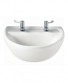 Sola Medical 500 Washbasin 2 Tap Hole