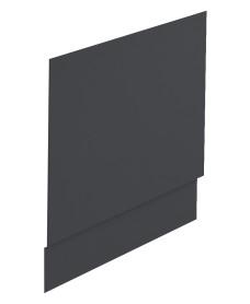 Scandinavian End Bath Panel 800mm Midnight Grey Matt