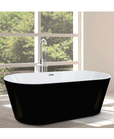SIGNATURE Matt Black Free Standing Bath Pack