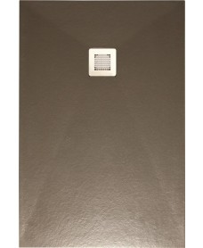 Slate Taupe 1400x800 shower tray with FREE Shower Waste