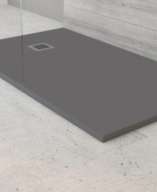 SLATE 1400 x 900 Shower Tray Anthracite - with FREE shower waste