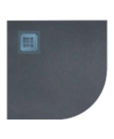 Slate 1000 Quadrant Black Shower Tray & Waste