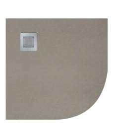 Slate 1000 Quadrant Taupe Shower Tray & Waste