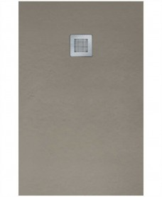 Slate Taupe 1500x800 shower tray with FREE Shower Waste