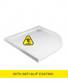 Kristal Low Profile 800 Quadrant Upstand Shower Tray - Anti Slip with FREE shower waste
