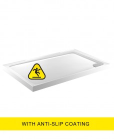 Kristal Low Profile 1200X900  Rectangle Upstand Shower Tray  - Anti Slip  with FREE shower waste
