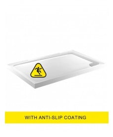 Kristal Low Profile 1000x900 Rectangle 4 Up Stands Shower Tray -Anti Slip  with FREE shower waste