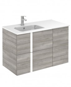Avila Sandy Grey Wall Hung 90cm Vanity Unit