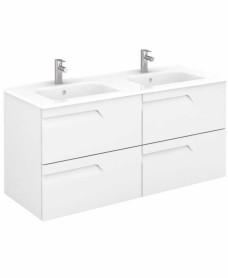 Brava 120 White Vanity Unit White and SLIM Basin