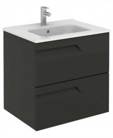 Brava 60 Gloss Grey 2 Drawer Unit & Slim Basin