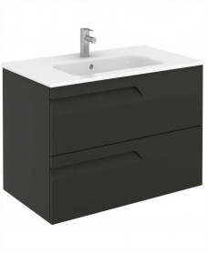 Brava 80 Gloss Grey 2 Drawer Unit & Slim Basin