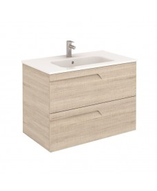 Brava 80 Maple Vanity Unit Maple and SLIM Basin