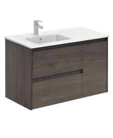 Dijon Samara Ash 90 Vanity Unit and SLIM Basin