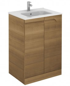 Brava 60 Walnut Floor Standing Vanity Unit and SLIM Basin - *50% Off While Stocks Last