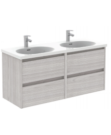 Smart Sandy Grey 120cm Vanity Unit 4 Drawer and Idea Basin