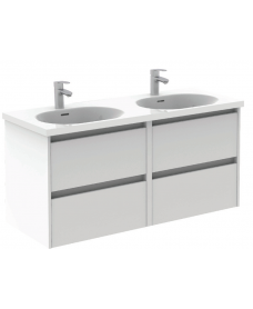 Smart Gloss White 120cm Vanity Unit 4 Drawer and Idea Basin