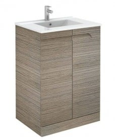 Brava 60cm Ash Floor Unit with Toledo Basin with Nena Basin Mono - *Special Offer