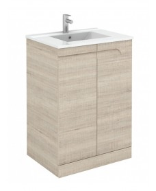 Brava 60cm Maple Floor Unit with Toledo Basin with Nena Basin Mono - *Special Offer
