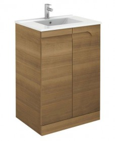 Brava 60cm Walnut Floor Unit with Toledo Basin and Nena Basin Mono - *Special Offer