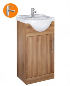Belmont Walnut 45cm Vanity Unit  with Nena Tap - *Special Offer