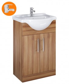 Belmont Walnut 55cm Vanity Unit with Alpha Tap - *Special Offer