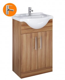 Belmont Walnut 55cm Vanity Unit with Nena Tap - *Special Offer