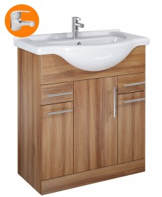 Belmont Walnut 75cm Vanity Unit with Alpha Tap - * Special Offer