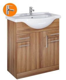Belmont Walnut 75cm Vanity Unit with Nena Tap - * Special Offer
