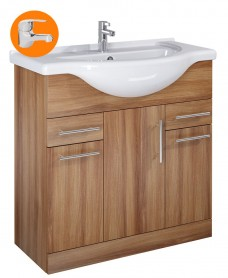 Belmont Walnut 85cm Vanity Unit with Alpha Tap - *Special Offer