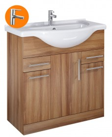 Belmont Walnut 85cm Vanity Unit with Nena Tap - *Special Offer