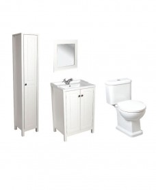 Kingston Chalk White Pack including Tall Storage Unit - Special Offer