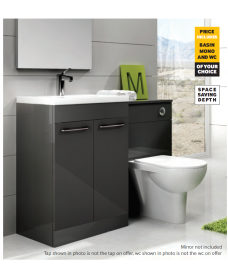 Otto Plus Gloss Grey - Verona - *Special Offer