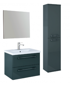 Otto Plus Gloss Grey Wall hung unit furniture pack - *Special Offer