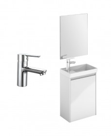 Dijon Cloakroom Gloss White Wall Hung Pack - Special Offer