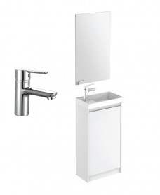 Dijon Cloakroom Gloss White Floor Standing Pack - Special Offer