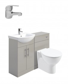 Belmont Gloss Light Grey Vanity Pack-Alpha Basin Mixer  - Special Offer