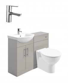 Belmont Gloss Light Grey Vanity Pack-Nena Basin Mixer - Special Offer