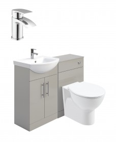 Belmont Gloss Light Grey Vanity Pack-Corby Basin Mixer - Special Offer