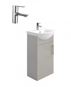 Belmont Gloss Light Grey 45cm Vanity Unit Pack - Nena Basin Mixer- Special Offer