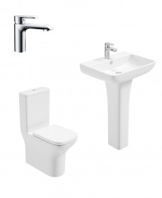 Sophia Full Pedestal & Fully Shrouded WC Pack - Scope Basin Mixer - Special Offer