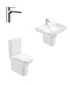 Sophia Semi Pedestal & Fully Shrouded WC Pack - Scope Basin Mixer - Special Offer