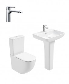 Inspire Full Pedestal & Fully Shrouded WC Pack - Scope Basin Mixer - Special Offer