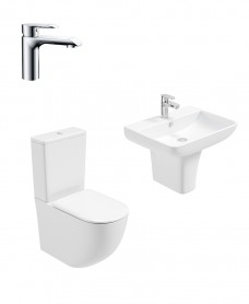 Inspire Semi Pedestal & Fully Shrouded WC Pack - Scope Basin Mixer - Special Offer